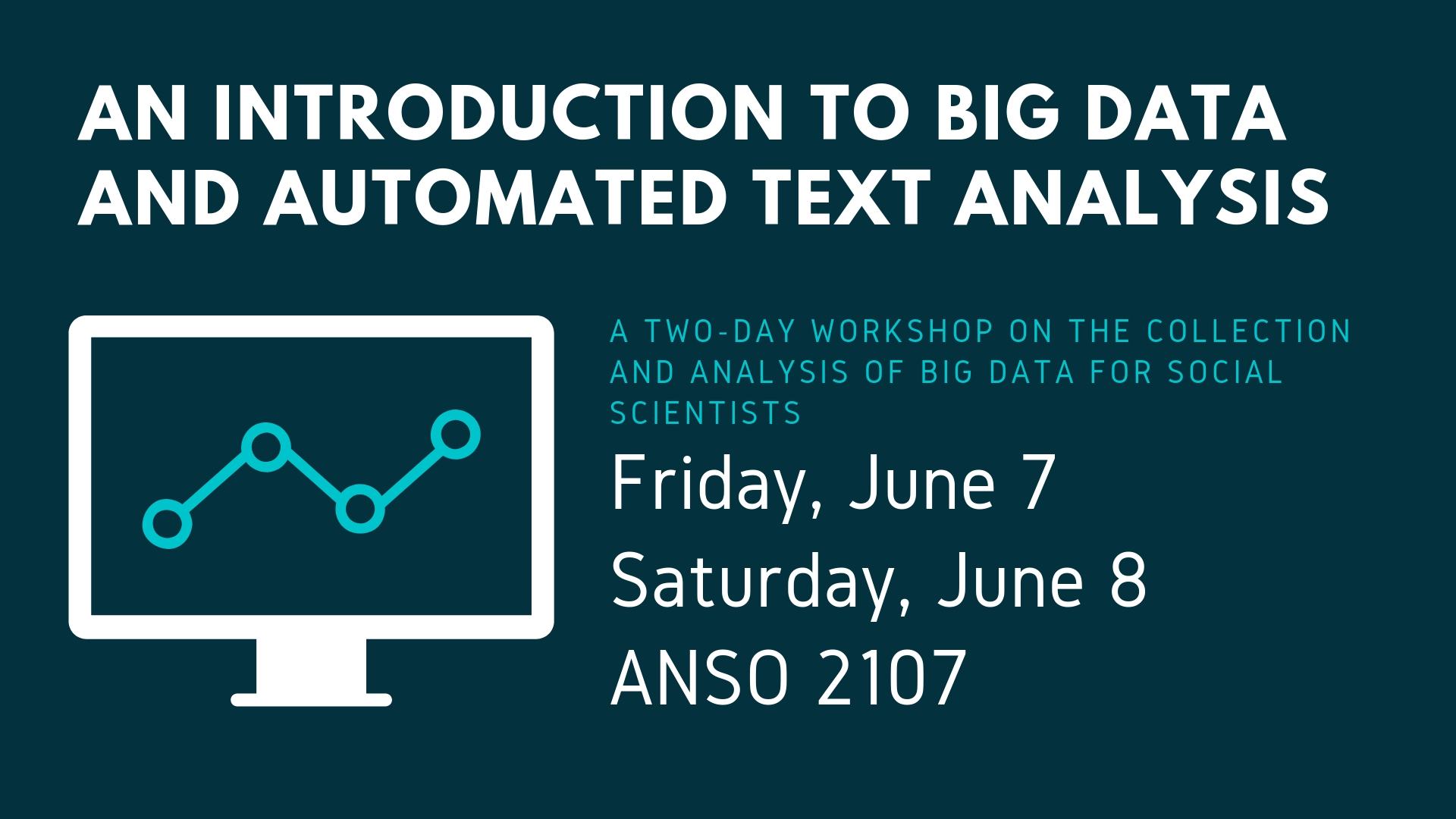 Introduction to Big Data and Automated Text Analysis for Social Scientists - Department of Sociology